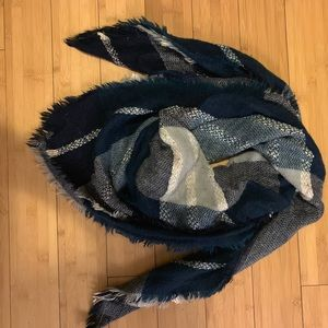 Blue and White Blanker Scarf